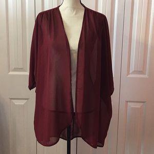 Burgundy Kimono or Cardigan